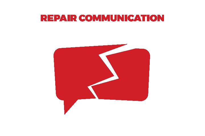 graphic of broken communication bubble